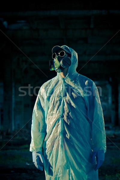 man portrait in respirator Stock photo © chesterf