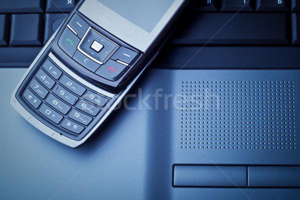 ビジネス コミュニケーション 青 オフィス インターネット 作業 ストックフォト © chesterf