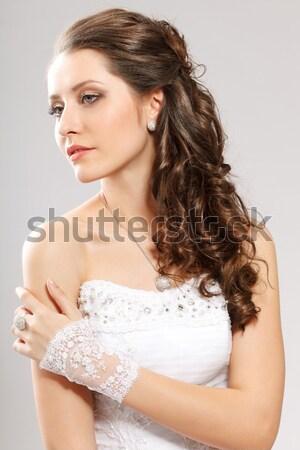 女性 長髪 広場 フレーム スタジオ ストックフォト © chesterf