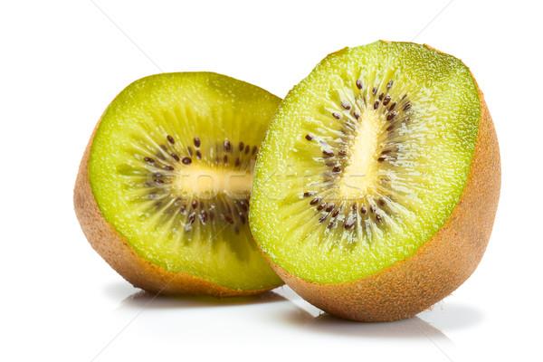изолированный зрелый киви фрукты зеленый фон Сток-фото © chesterf