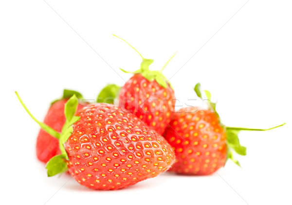 isolated strawberries heap Stock photo © chesterf