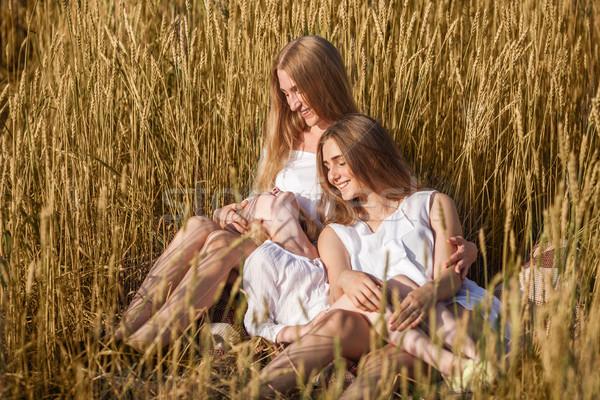 Сток-фото: красивой · молодые · матери · женщину