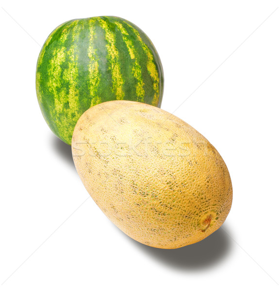 isolated cantaloupe and water melon Stock photo © chesterf