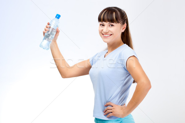 woman with bottle of water Stock photo © chesterf