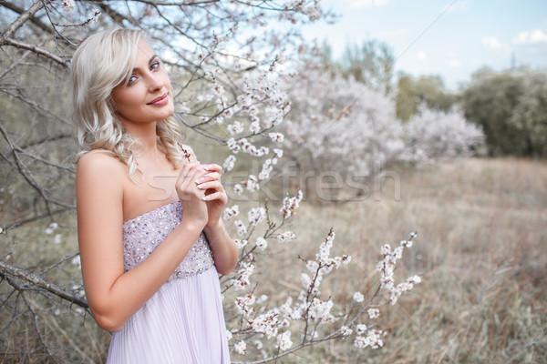 саду красивой портрет весны цветок Сток-фото © chesterf