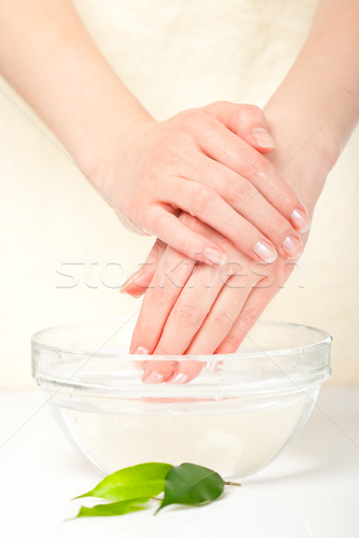washing hands Stock photo © chesterf