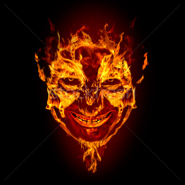 fire devil face Stock photo © chesterf