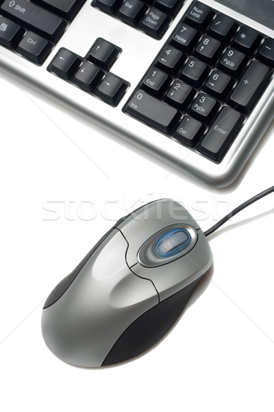fragment of keyboard and mouse Stock photo © chesterf