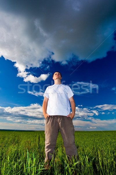 man looking far away Stock photo © chesterf