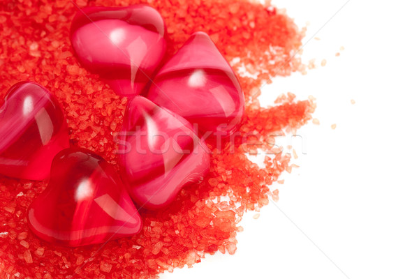 some red hearts with salt Stock photo © chesterf