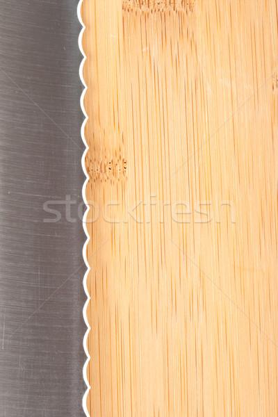 Cuchillo metal restaurante acero blanco cocinar Foto stock © chesterf