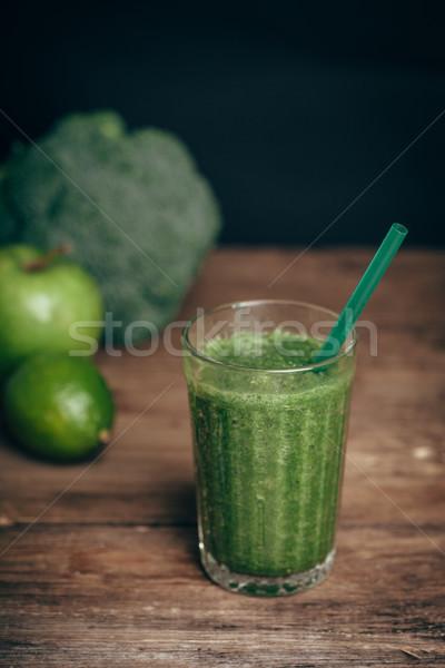 新鮮な グリーンスムージー フルーツ 野菜 健康的な食事 選択フォーカス ストックフォト © chesterf