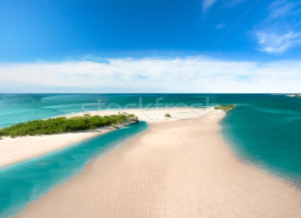 песок острове морем лазурный пляж небе Сток-фото © chesterf