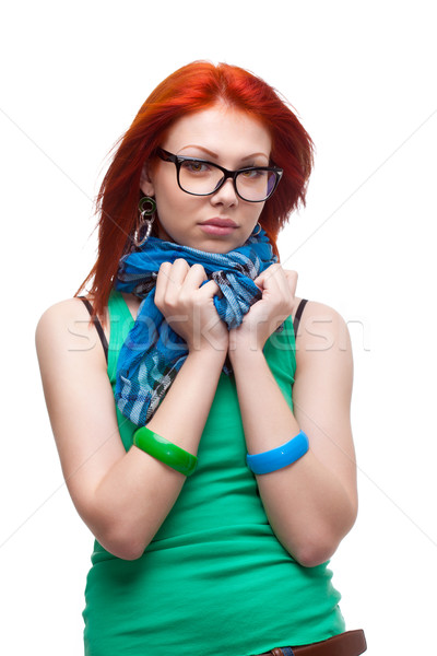 red-haired girl Stock photo © chesterf
