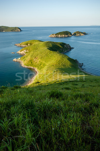 small cape and islands in the japanese sea Stock photo © chesterf
