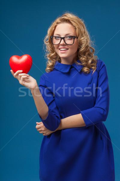 Сток-фото: женщину · формы · сердца · очки