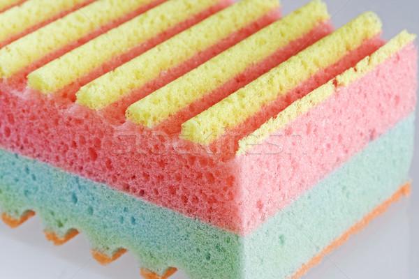 Gąbki tekstury tkaniny kąpieli różowy obiektu Zdjęcia stock © cheyennezj