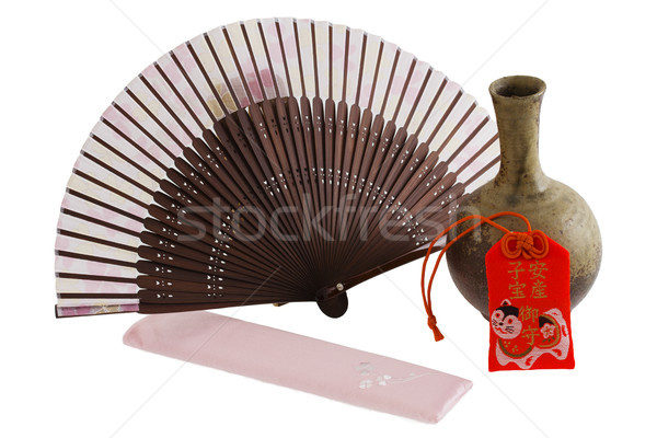 Японский вентилятор золото Сток-фото © cheyennezj