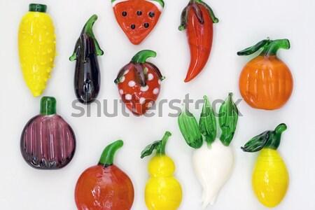 Mıknatıs meyve gıda sağlık arka plan kırmızı Stok fotoğraf © cheyennezj