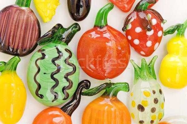 Imán frutas alimentos fondo verde rojo Foto stock © cheyennezj