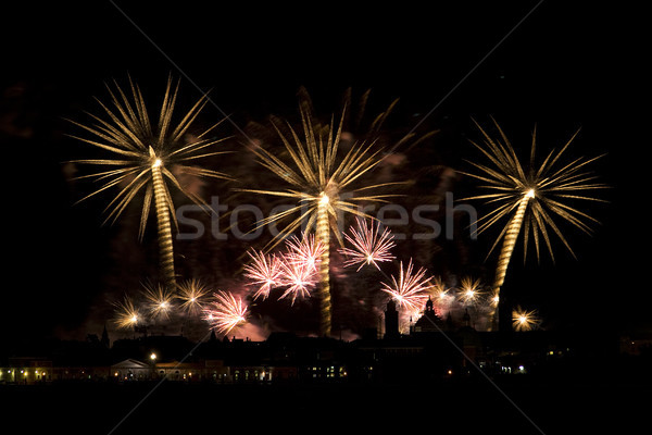花火 お祝い ヴェネツィア イタリア 背景 1泊 ストックフォト © cheyennezj