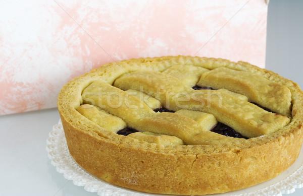 Lekvár torta reggeli diéta sütő falatozó Stock fotó © cheyennezj
