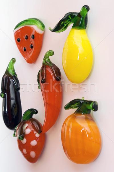 磁石 フルーツ 食品 緑 赤 イチゴ ストックフォト © cheyennezj