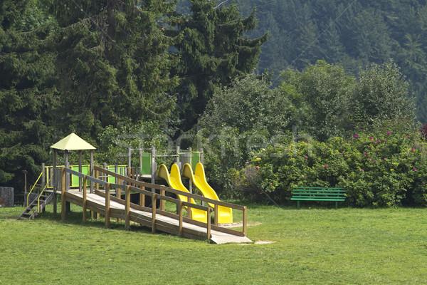 Boisko trawy górskich zielone zabawy zabawki Zdjęcia stock © cheyennezj