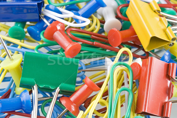 Paper-clip and drawing-pin  Stock photo © cheyennezj