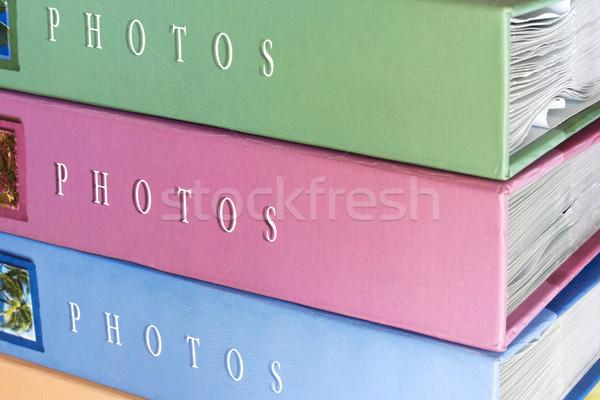 Fotoğraf mavi seyahat albüm arşiv toplama Stok fotoğraf © cheyennezj