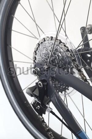 Narzędzi koła rowerów oleju rower łańcucha Zdjęcia stock © cheyennezj