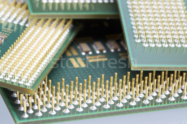 Bilgisayar mikro işlemci devre yonga Stok fotoğraf © cheyennezj
