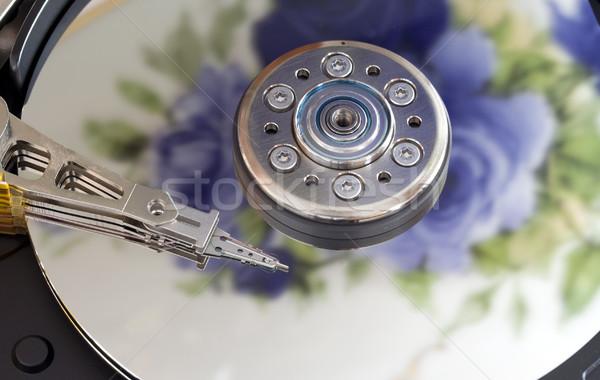 Merevlemez számítógép háttér fej olvas raktár Stock fotó © cheyennezj