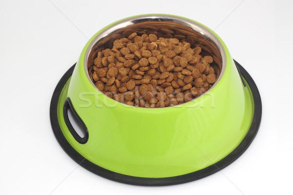 Díszállat étel tál kutya vacsora fehér Stock fotó © cheyennezj