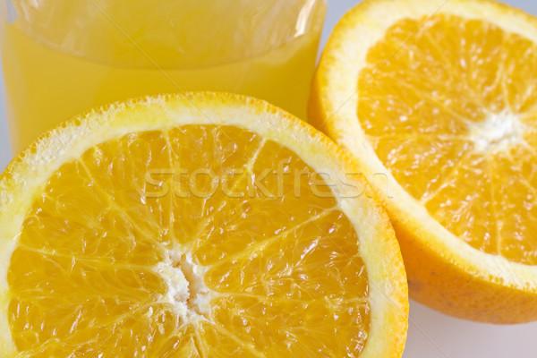 Narancslé étel gyümölcs ital stúdió folyadék Stock fotó © cheyennezj