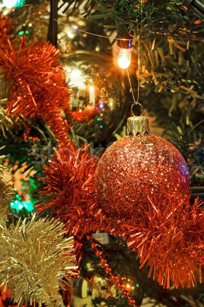 Karácsony dekoráció textúra háttér tél szövet Stock fotó © cheyennezj