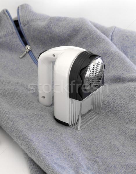 Kék szövet ruházat póló textil tárgy Stock fotó © cheyennezj
