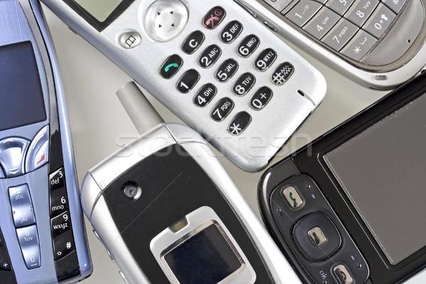 Telefon komórkowy technologii komórkowych połączenia elektroniki przekazują Zdjęcia stock © cheyennezj
