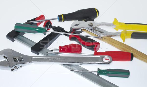 Araçları çelik bant mekanik marangoz tamir Stok fotoğraf © cheyennezj