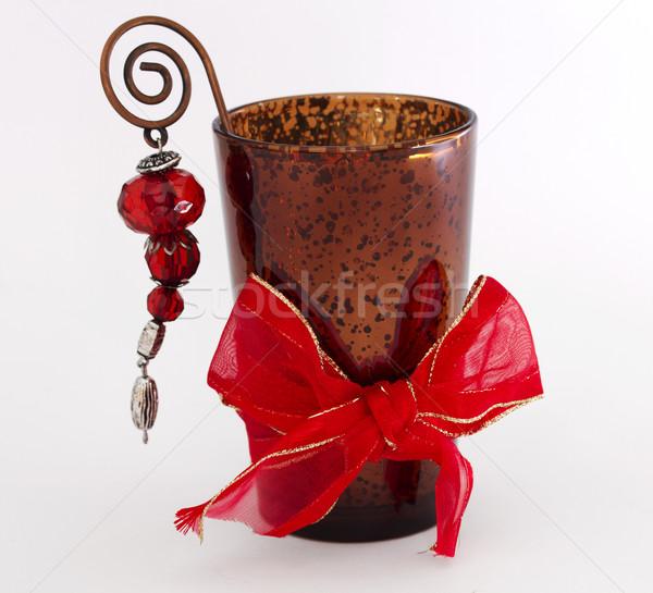 Candle inside a glass  Stock photo © cheyennezj