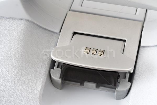 Bavul şifreli kilit seyahat hayat bagaj nesne Stok fotoğraf © cheyennezj