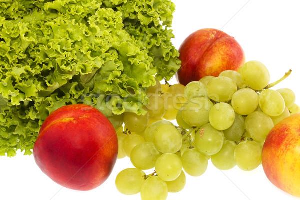 Nutritivo comida uvas sobremesa mel pêssego Foto stock © cheyennezj
