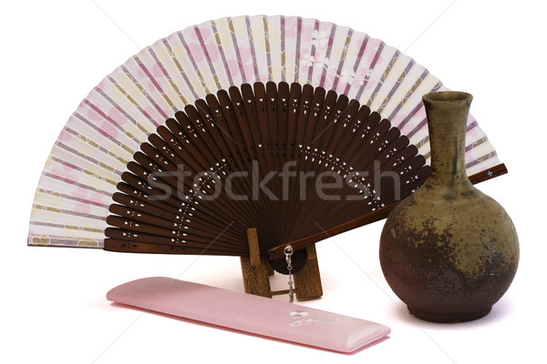 Japonés ventilador oro Foto stock © cheyennezj