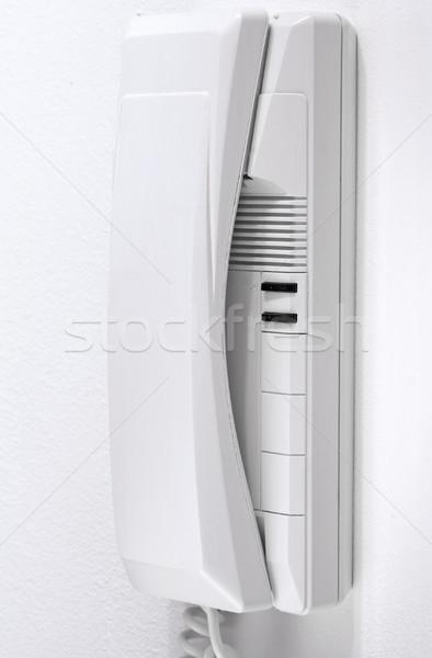 Drzwi telefonu ściany klawiatury tle bezpieczeństwa Zdjęcia stock © cheyennezj