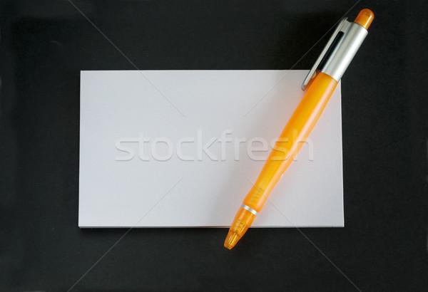 Iroda papír iskola toll tanulás fehér Stock fotó © cheyennezj