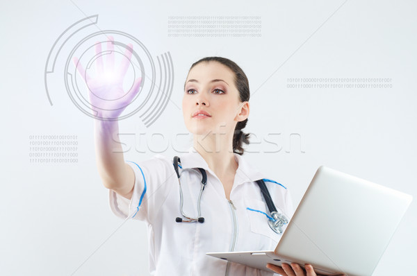 Innovatieve geslaagd persoon internet Stockfoto © choreograph