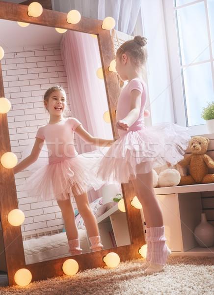 girl dreams of becoming a ballerina Stock photo © choreograph