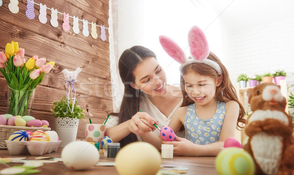 family preparing for Easter Stock photo © choreograph