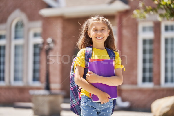 Stock photo: Girls with backpack