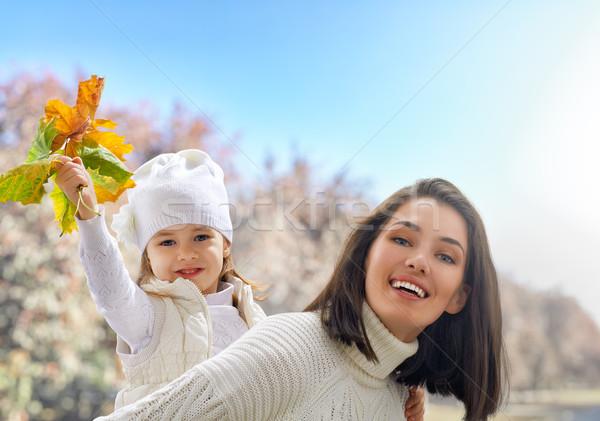 Stock fotó: ősz · park · boldog · család · szórakozás · család · természet